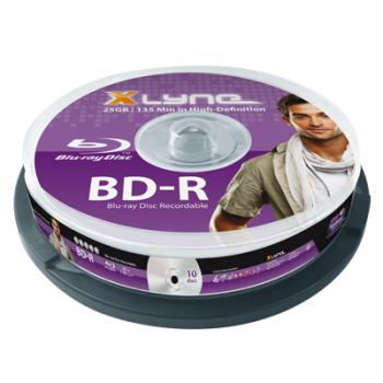 BR Bluray Xlyne 25GB 10pcs BD-R spindel 4x