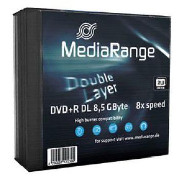 DVD+R MEDIARANGE 8,5 GB - Dual Layer 5er Pack