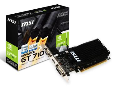 GeForce GT710 - MSI N710-2GD3H/LP 1GB, DVI, HDMI,LP ,passiv