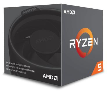 CPU AM4 AMD Ryzen 5 2600 - 3,4 - 3.9 GHz - 6C/8T 65W