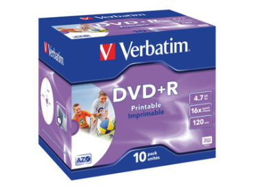 DVD+R Verbatim Printable 10er Pack